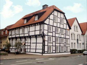 Das historische Haus Henin im Herzen von Hamm in Westfalen.